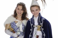 Jeugdprinsestel 2015 Cas Nijssen en Mila Baltissen