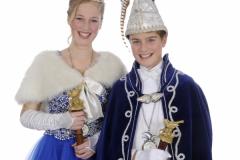 Jeugdprinsestel 2017 Daan Willems en Nora Krebbers